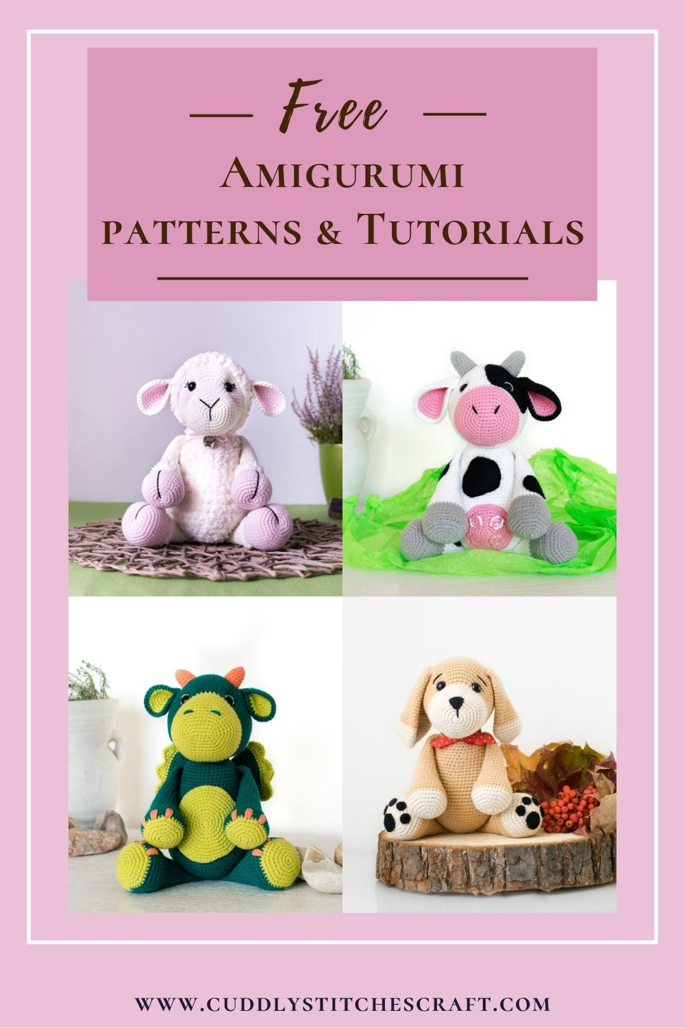 Free Amigurumi Patterns and Tutorials by Cuddly Stitches Craft