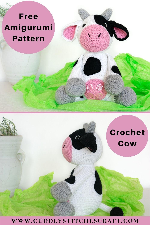 Free crochet cow pattern (8)