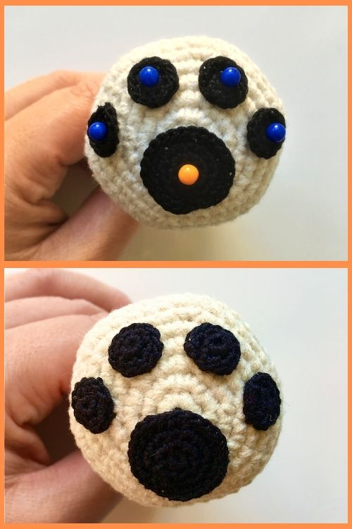 instructions on how to make crochet dog paw