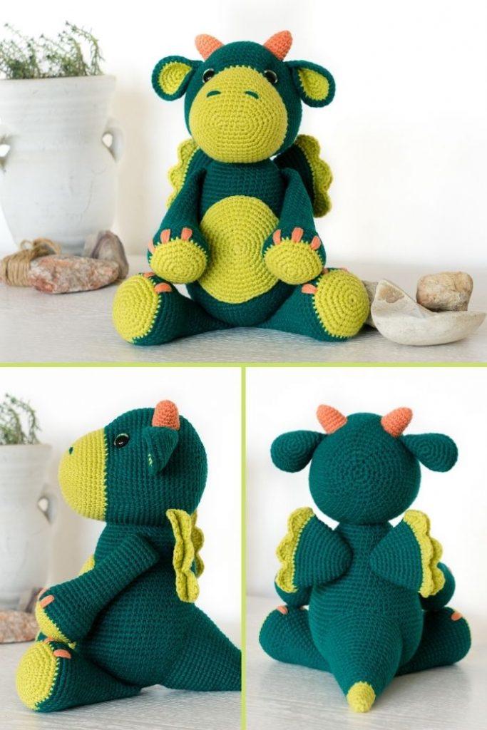 Free crochet dragon pattern (10)