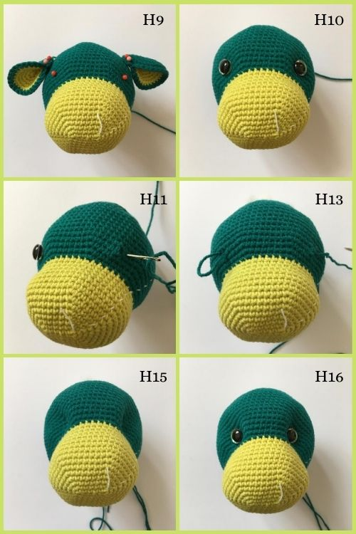 instructions on how to sculpt crochet dragon eyes