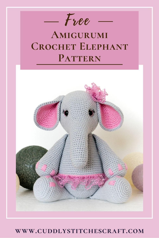 Free crochet elephant pattern (2)