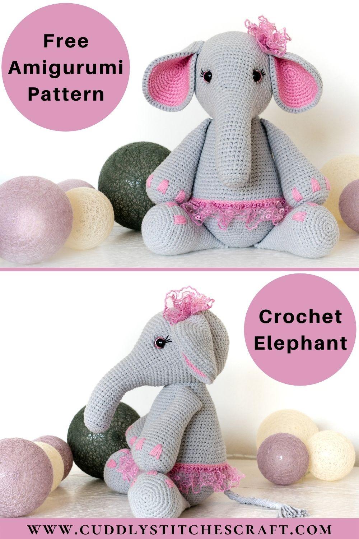 Free crochet elephant pattern (3)