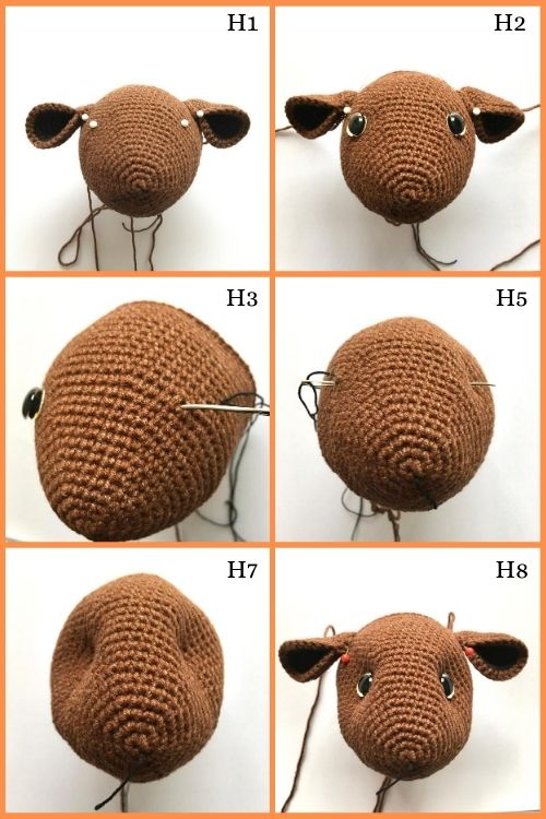 instructions on how to sculpt guinea pig toy eyes