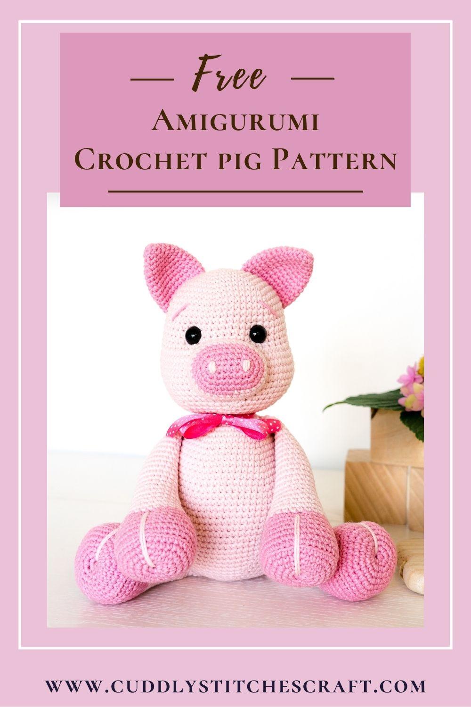 Free crochet pig pattern (10)