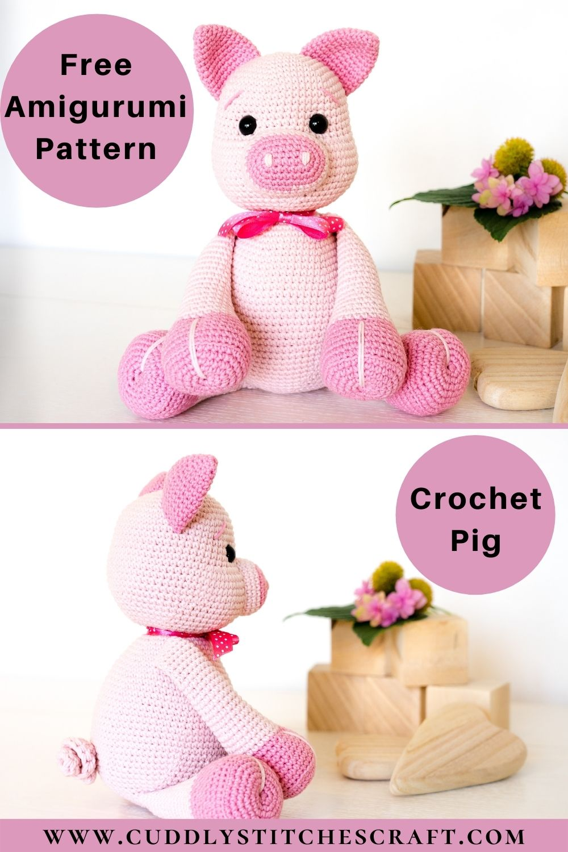 Free crochet pig pattern (7)