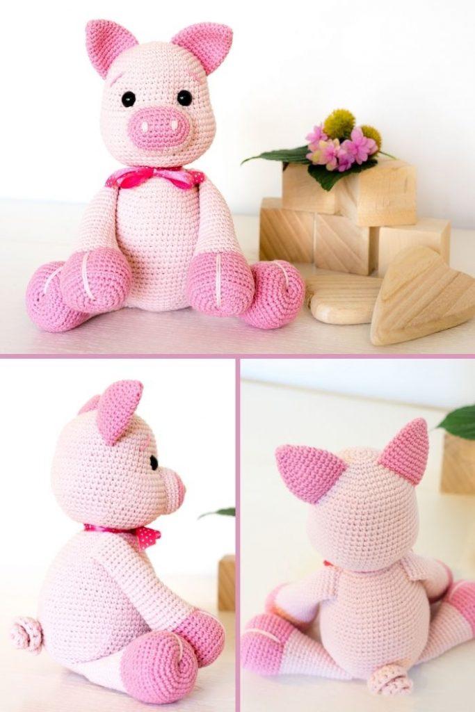 Free crochet pig pattern (8)