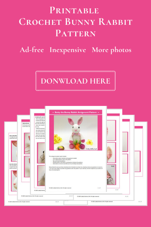 printable free crochet bunny pattern