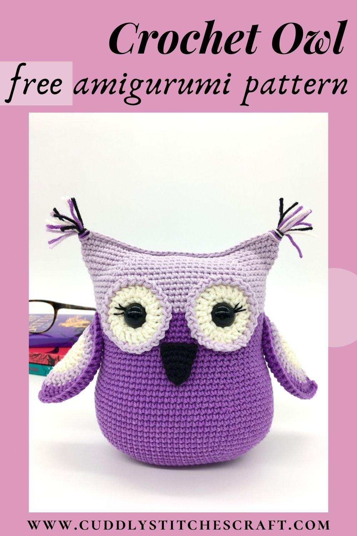 Free crochet owl pattern, Amigurumi owl (10)