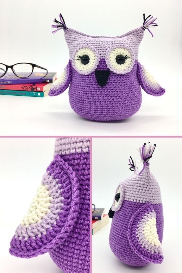 Free crochet owl pattern, Amigurumi owl (3)