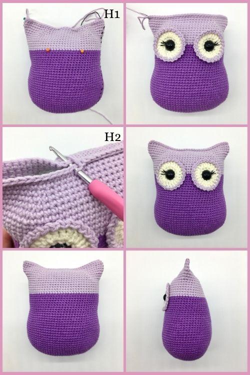 Free crochet owl pattern, Amigurumi owl (4)