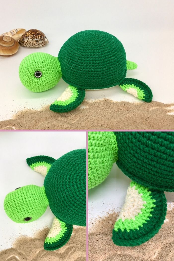 Free crochet turtle pattern, Amigurumi turtle tutorial (3)