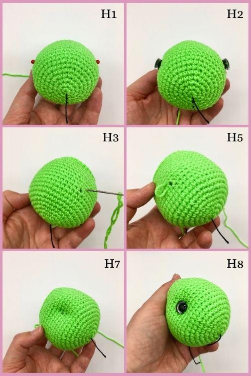 Free crochet turtle pattern, Amigurumi turtle tutorial (6)