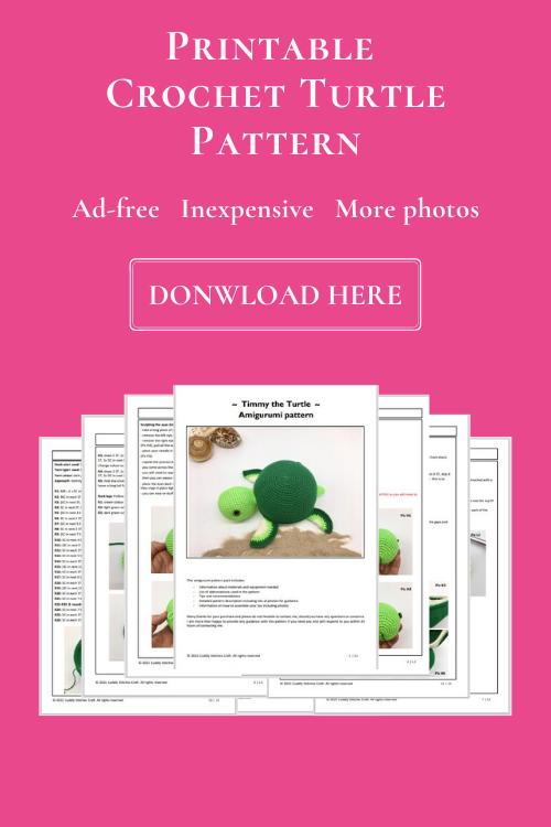 Crochet turtle pattern, Amigurumi turtle tutorial