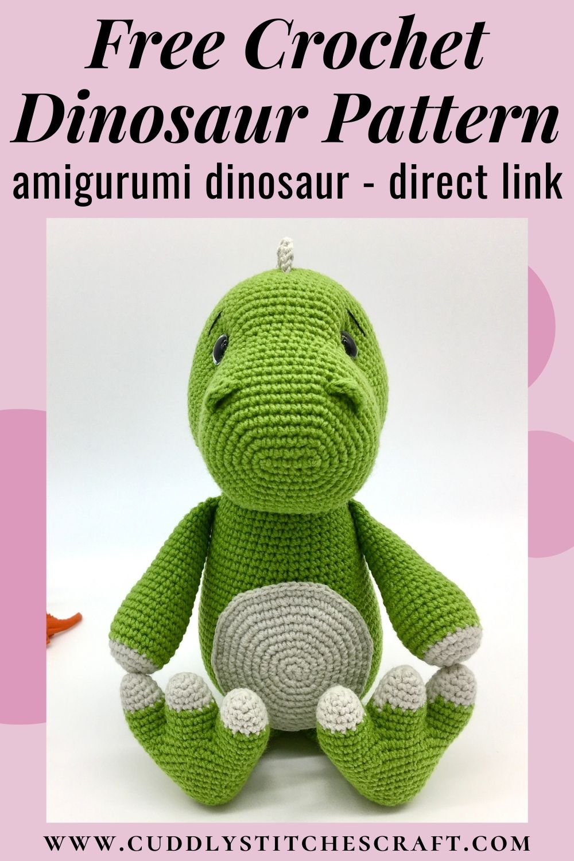 Free dinosaur crochet pattern, free Amigurumi dinosaur pattern, T-rex (2)
