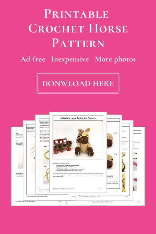 Crochet horse pattern, Amigurumi horse pattern