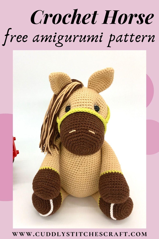 Free crochet horse pattern, free Amigurumi horse pattern (5)