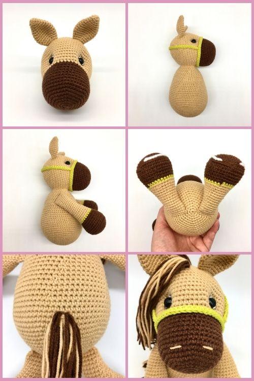 Free crochet horse pattern, free Amigurumi horse pattern (7)