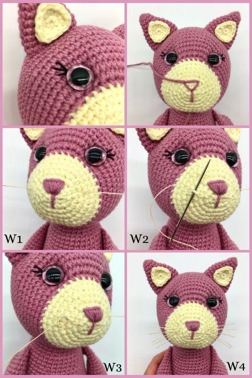Free crochet cat pattern, Amigurumi cat pattern (3)