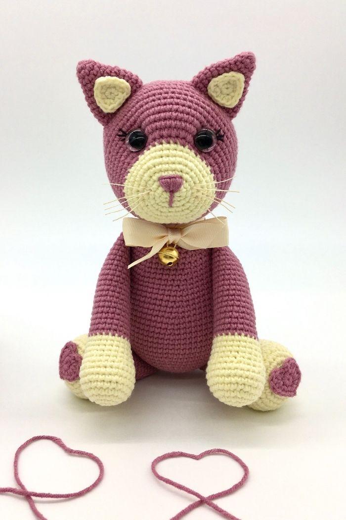 Free crochet cat pattern, Amigurumi cat pattern (5)