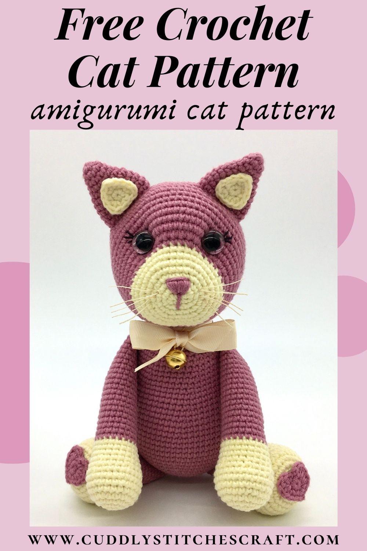 Free crochet cat pattern, free Amigurumi cat pattern