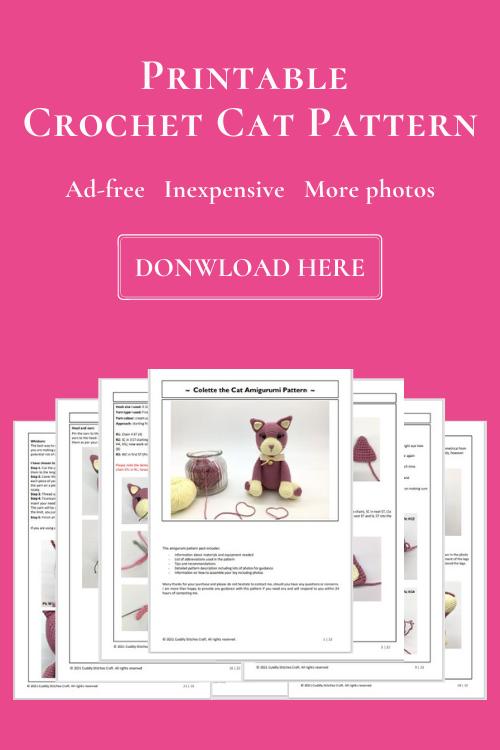 crochet cat pattern, Amigurumi cat pattern