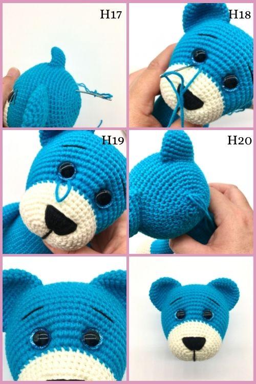 Free crochet bear pattern, free Amigurumi bear pattern (5)