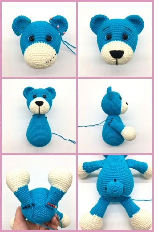 Free crochet bear pattern, free Amigurumi bear pattern (7)