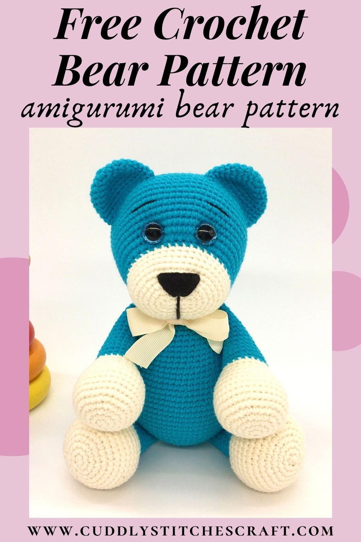 Free crochet bear pattern, free Amigurumi bear pattern (8)