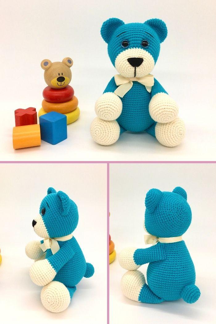 Free crochet bear pattern, free Amigurumi bear pattern