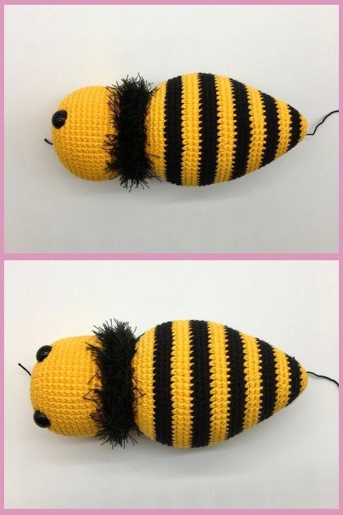 Free crochet bee pattern, Free Amigurumi bee pattern (4)