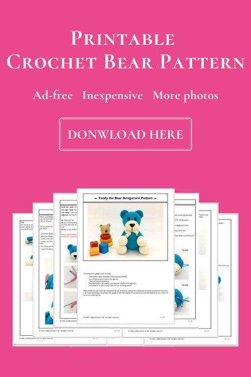 crochet bear pattern, Amigurumi bear pattern
