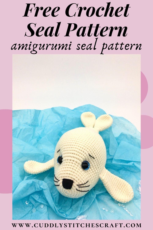 Free crochet seal pattern, free Amigurumi seal pattern (5)