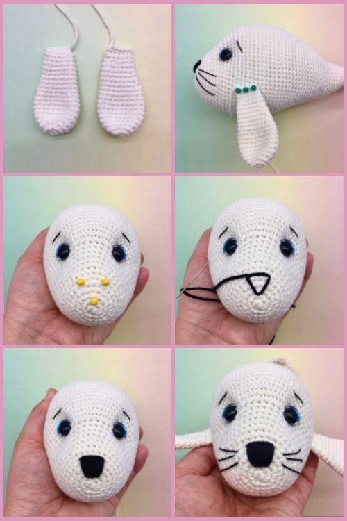 Free crochet seal pattern, free Amigurumi seal pattern (6)