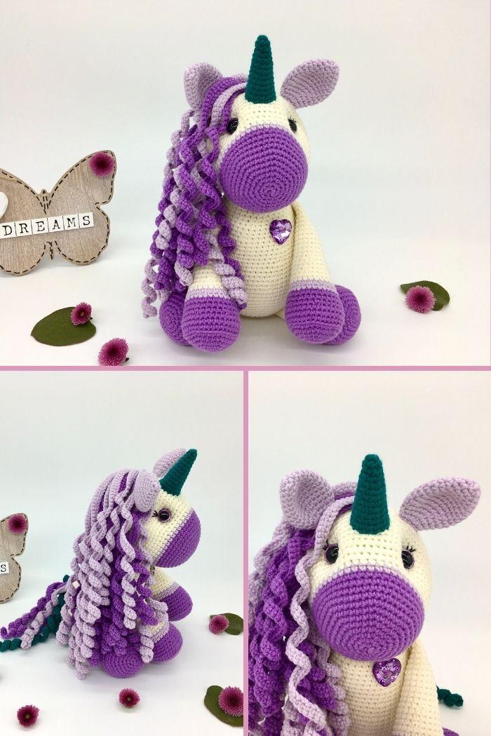 Free crochet unicorn pattern, free Amigurumi unicorn by Cuddly Stitches Craft (4)