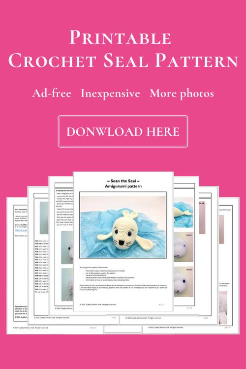 crochet seal pattern, Amigurumi seal pattern