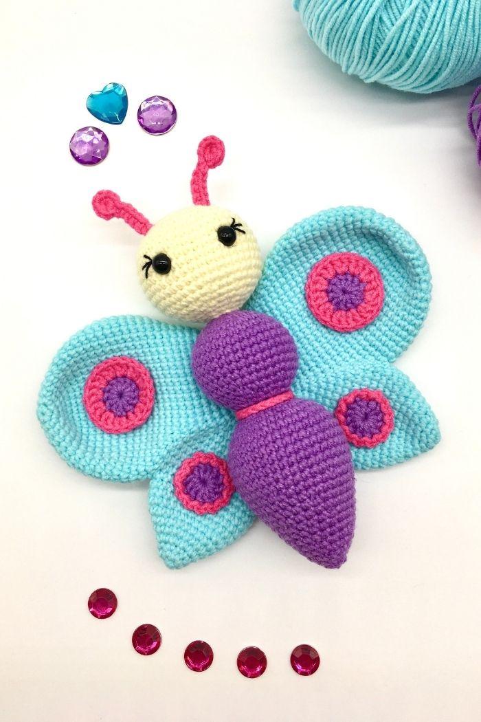 Free crochet butterfly pattern, free Amigurumi pattern by Cuddly Stitches Craft (2)