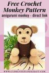 Free crochet monkey pattern, free Amigurumi monkey pattern by Cuddly Stitches Craft (4)