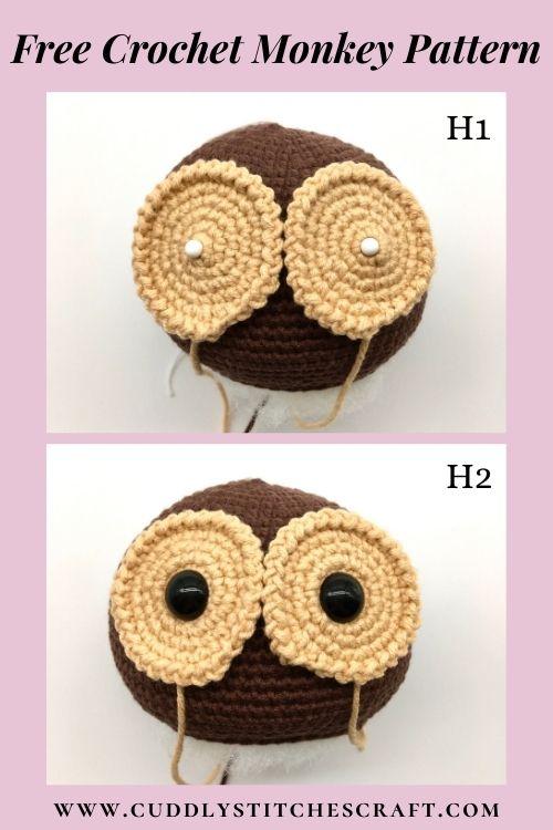 Free crochet monkey pattern, free Amigurumi monkey pattern by Cuddly Stitches Craft (7)