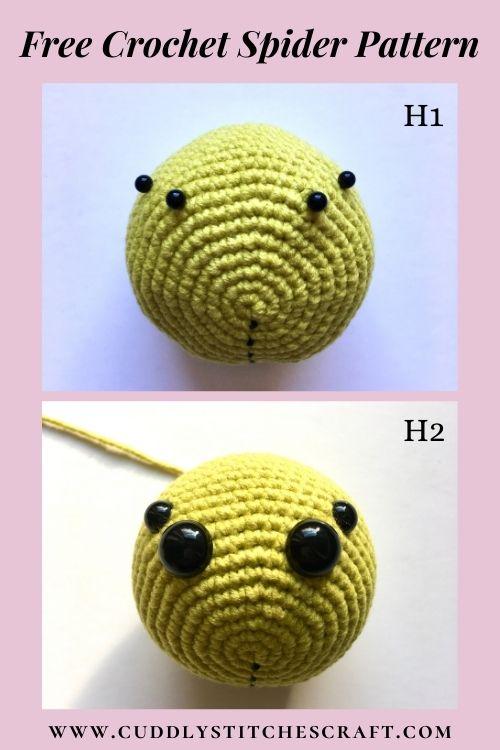 Free crochet spider pattern, free Amigurumi spider pattern by Cuddly Stitches Craft (3)