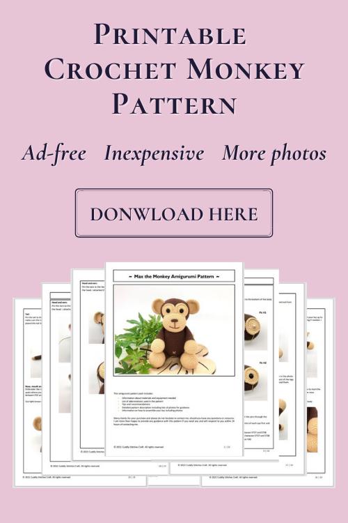 crochet monkey pattern, Amigurumi monkey pattern by Cuddly Stitches Craft (2)