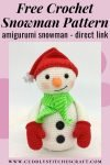 Free crochet snowman pattern, free Amigurumi snowman pattern by Cuddly Stitches Craft (2)