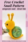 Free crochet snail pattern, free Amigurumi snail pattern by Cuddly Stitches Craft (2)
