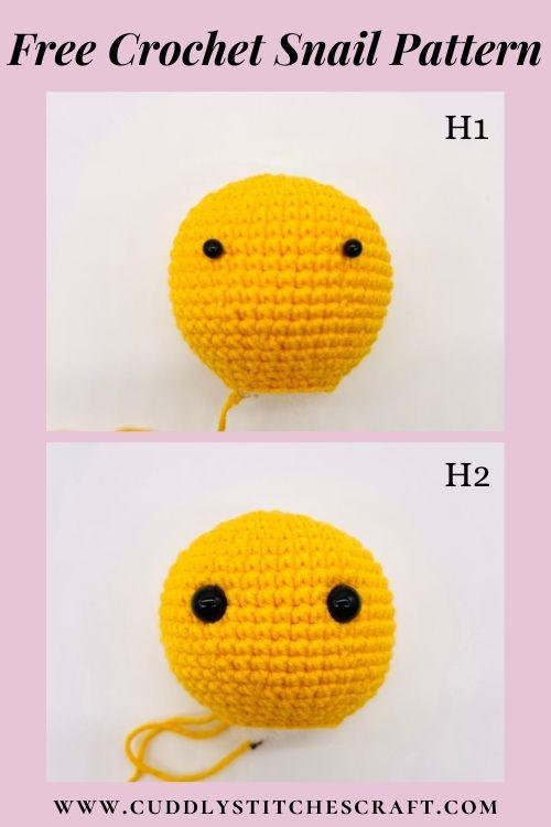 Free crochet snail pattern, free Amigurumi snail pattern by Cuddly Stitches Craft (4)