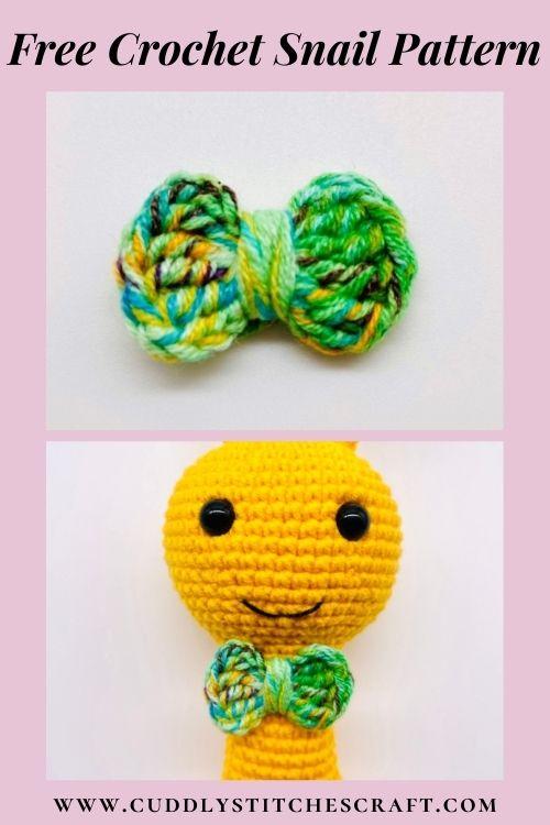Free crochet snail pattern, free Amigurumi snail pattern by Cuddly Stitches Craft (6)