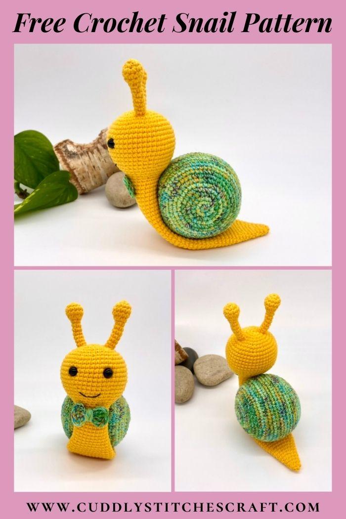 Free crochet snail pattern, free Amigurumi snail pattern by Cuddly Stitches Craft (7)