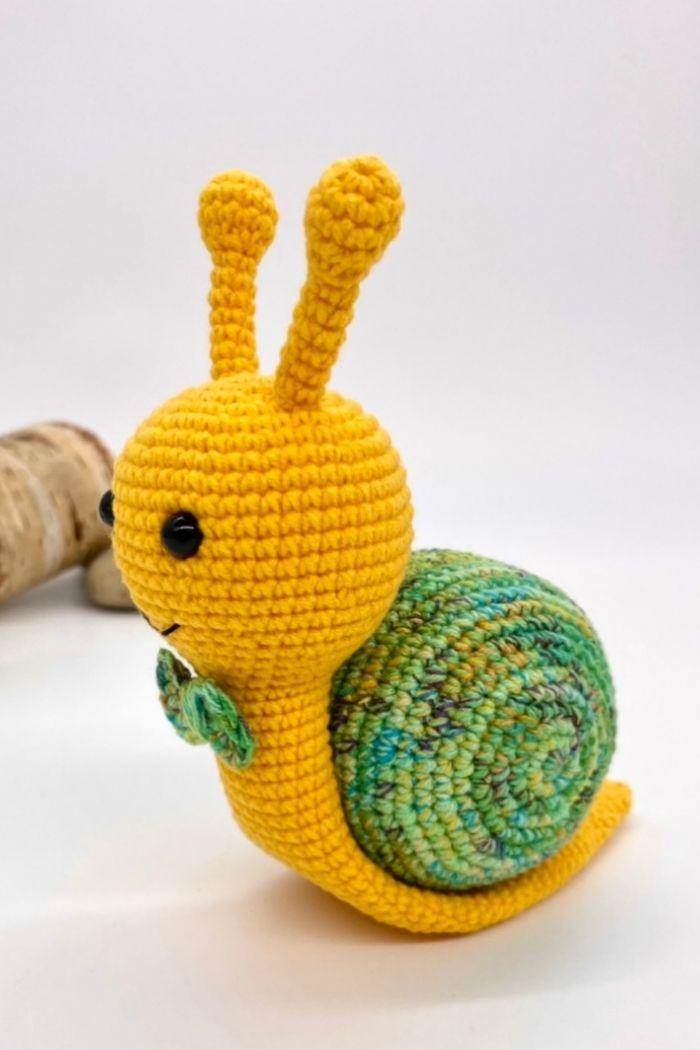 Free crochet snail pattern, free Amigurumi snail pattern by Cuddly Stitches Craft (8)