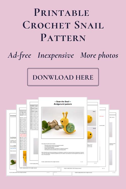crochet snail pattern, Amigurumi snail pattern by Cuddly Stitches Craft